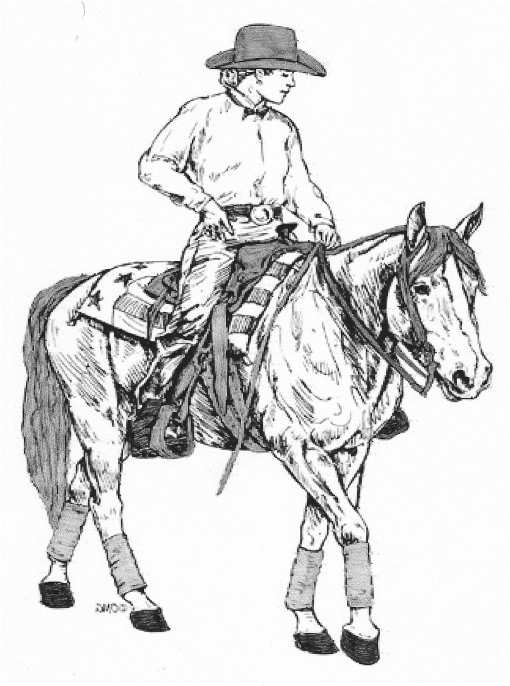 Man riding horse drawing man riding horse drawing blue moon acres llc ccuart Gallery